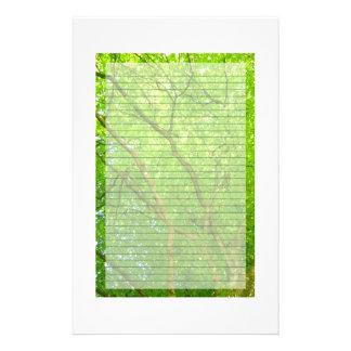El verde se va inmóvil papelería