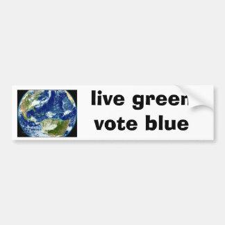 """el """"verde vivo, vota"""" a la pegatina para el parach pegatina para coche"""