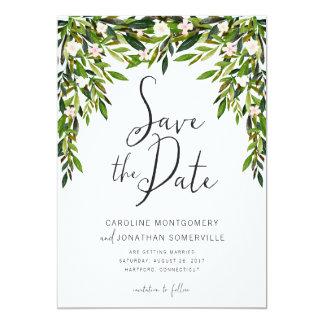 El verdor ahorra los nombres completos de la invitación 12,7 x 17,8 cm