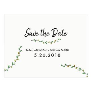 El verdor simple ahorra la postal de la fecha