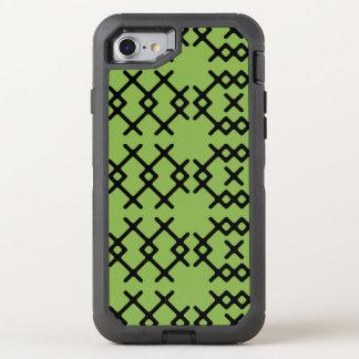 El verdor tribal pone verde formas geométricas del funda OtterBox defender para iPhone 7