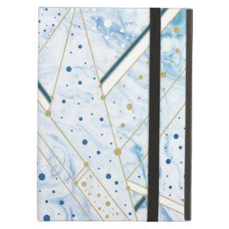 el vetear del azul y caja de oro del ipad de la funda para iPad air