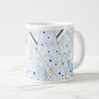 El vetear del azul y taza de oro de la geometría