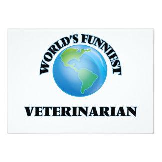 El veterinario más divertido del mundo invitación 12,7 x 17,8 cm