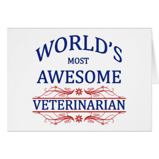 El veterinario más impresionante del mundo tarjeta de felicitación