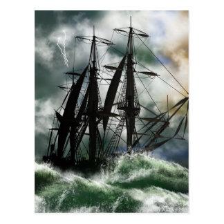 El viaje - Columbus que navega el océano Postal