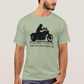 El viaje es mejor que el destino camiseta