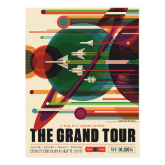 El viaje magnífico - postal retra del poster del
