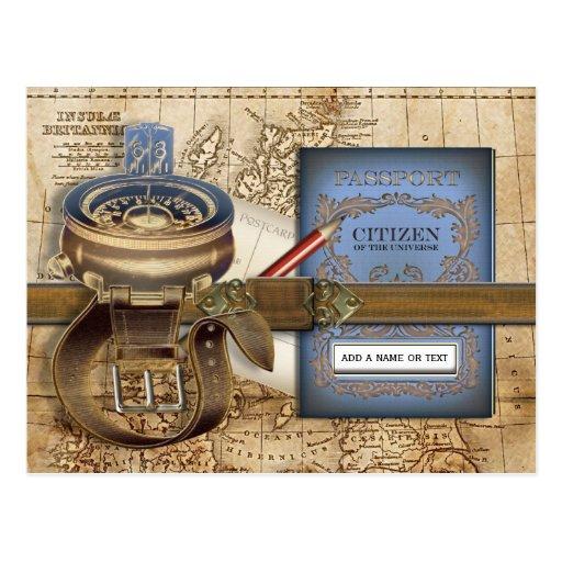El viajero postales