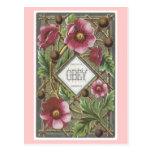 El Victorian del vintage florece la postal de las