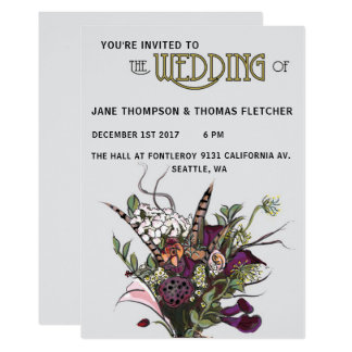El Victorian florece la invitación