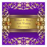 El Victorian florece púrpura y aniversario del oro Anuncio Personalizado