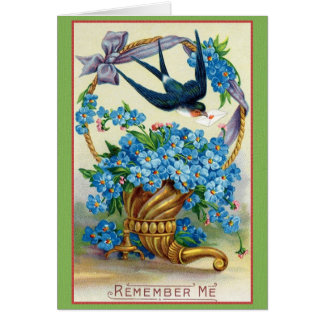 El Victorian me olvida no tarjeta de nota