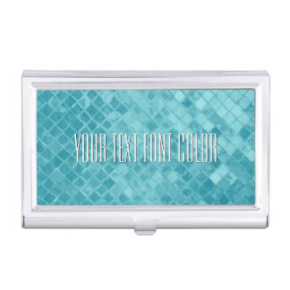 El vidrio del mar de la aguamarina personaliza cajas de tarjetas de presentación