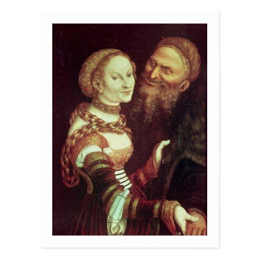 El viejo hombre locamente enamorado, 1553 (aceite  postal