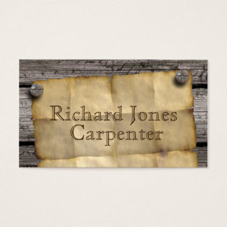 El viejo oeste quiso el carpintero del ~ del tarjeta de negocios