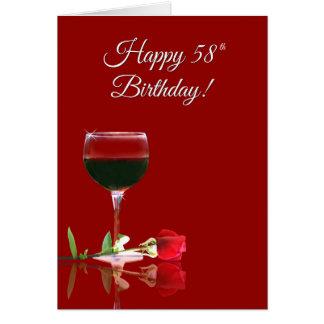 El vino anima la tarjeta divertida del 58.o