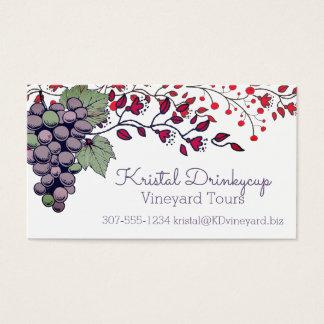 El vino de las vides de uva viaja a tarjetas de