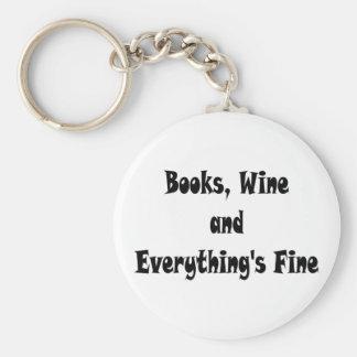 El vino de los libros todo es llavero fino
