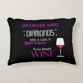 El vino es mi almohada del acento de BFF