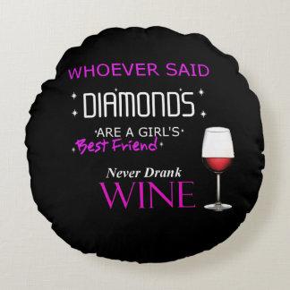 El vino es mi almohada redonda de BFF