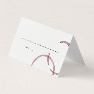 El vino mancha el SISTEMA de tarjeta del lugar del
