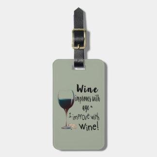 El vino mejora con edad que mejoro con la etiqueta