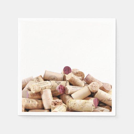 El vino tapa servilletas con corcho servilletas desechables