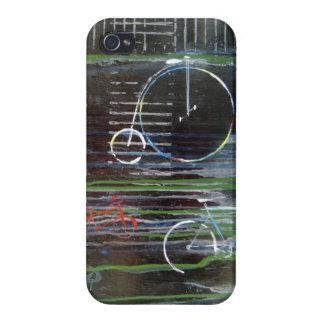 El vintage abstracto monta en bicicleta el caso de iPhone 4/4S fundas