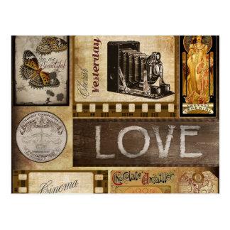 El vintage ama ayer el chocolate del cine de la postal