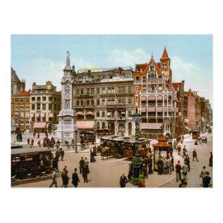 El vintage Amsterdam, tranvías en los Dom Plat Postal
