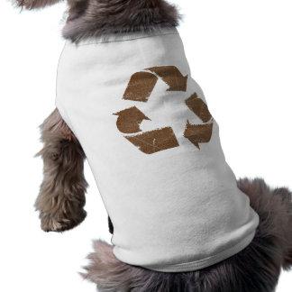 El vintage Brown recicla la muestra Camisa De Mascota