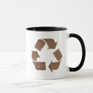 El vintage Brown recicla la muestra Taza