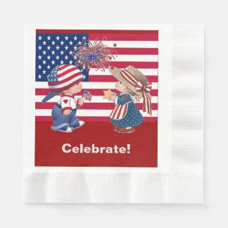 El vintage celebra la servilleta del alumerzo de servilletas de papel