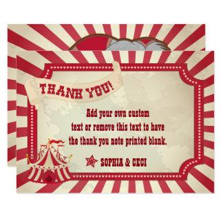 El vintage, circo rústico le agradece las tarjetas