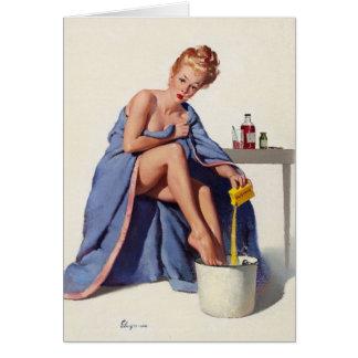 El vintage consigue arte pronto modelo bien del tarjeta pequeña