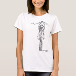 El vintage de frente del corredor del café diseñó camiseta