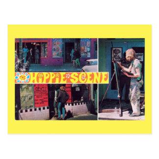 El vintage de la escena del Hippie Postal