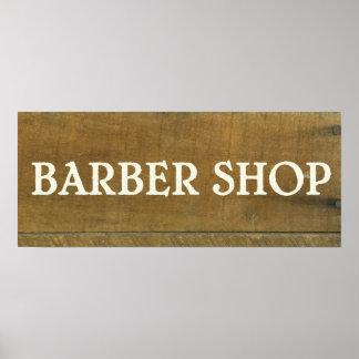 El vintage de la peluquería de caballeros inspiró póster