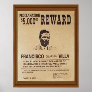 El vintage de Pancho Villa quiso la recompensa del Póster