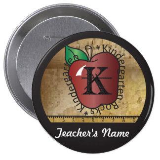 El vintage del profesor diseñó el Pin del botón de