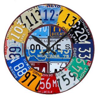 El vintage del reloj de la placa numera el arte 2