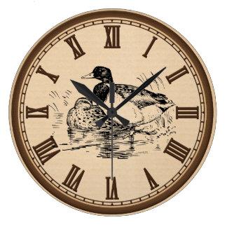El vintage ducks la decoración romana del reloj de