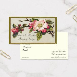 El vintage, elegante, Apple florece, las tarjetas