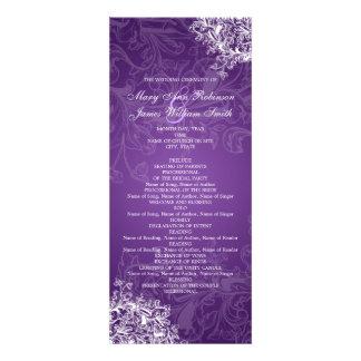El vintage elegante del programa del boda remolina invitacion personalizada