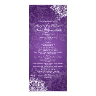 El vintage elegante del programa del boda remolina invitación 10,1 x 23,5 cm
