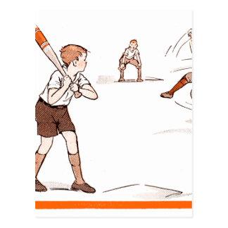 El vintage embroma el juego de béisbol de los postal
