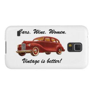 ¡El vintage es mejor! Caja del teléfono de la gala Funda De Galaxy S5