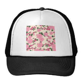 el vintage floral florece el fondo del papel gorro de camionero