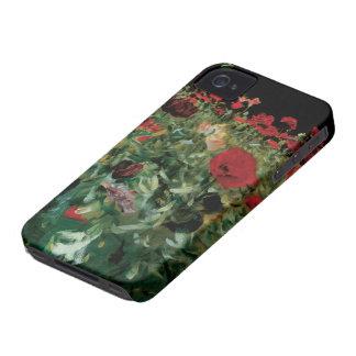 El vintage florece el arte floral, amapolas por carcasa para iPhone 4